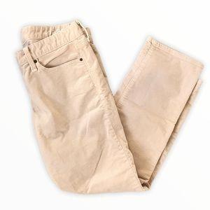 GAP | 1969 Beige Corduroy Straight Leg Jeans